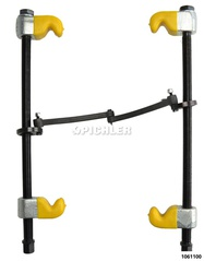 Spring Compressor Size 2 / 300 mm with with Plastic-Coated Hooks & Safety Guard