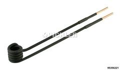 Spule 90° abgewinkelt Ø15mm, L 220mm, M6 Ausführung in schwarz
