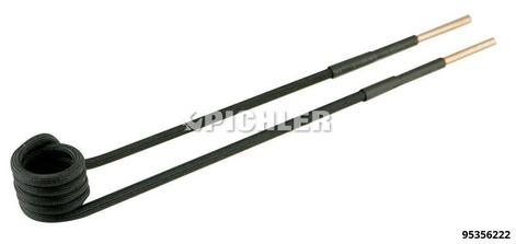 Spule 90° abgewinkelt Ø19mm, L 220mm, M8 Ausführung in schwarz
