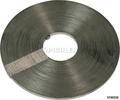 Feuillard - rouleau 50 mètres 5 x 4mm bande acier anti - rouille pour bride