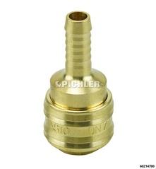 Druckluftkupplung mit 9 mm Schlauchanschluss