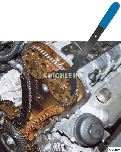 Gegenhalteschlüssel für z.B. Kettenräder von Nockenwellen, Ölpumpenräder, Schwingungsdämpfern inkl. 6 Zapfen