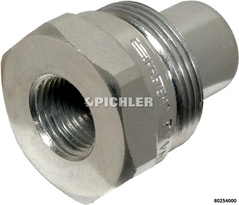 Hydraulic coupling 3/8 NPT with ball valve
