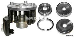 Jeu d'outils de montage UNI pour roulement de roue compact inclu 4 plaques contre-appui