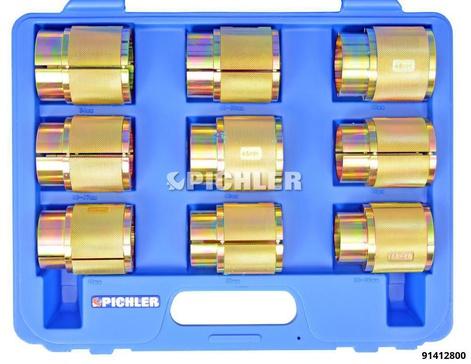 Eintreibwerkzeugsatz 9-teilig für Motorrad-Gabeldichtringe von 35-54mm