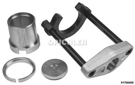 Silentbuchsen-Werkzeug 4-tlg. ohne Hydr. für Hinterachs-Aufhängungsarm Ford, Volvo