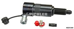 Hydraulischer Spindelzylinder 17t Hub Hub 50mm - mit CEJN-Nippelanschluss für z.B. Wallmek Hydraulikpumpen