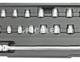 Schlüsselsatz mit Durchgangsbohrung 23-tlg.