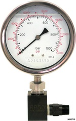 Pressure Gauge for Hydraulic Pumps 0-1000 Bar, Ø 100mm