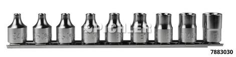 Aussentorx Satz 10-tlg. E4 - E16 Antrieb 3/8 lg.26,0mm / auf Klemmleiste