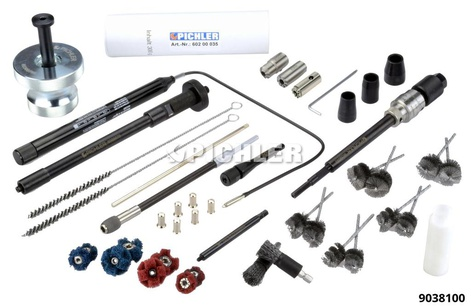 Injector Shaft Cleaning Set complete with 5 modules