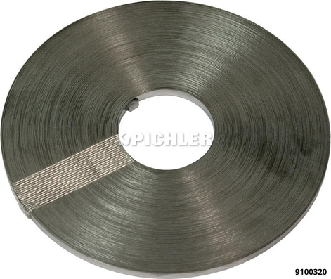 Bindschelle endlos 50m Rolle 5,0 x 0,4 Stahlband rostfrei