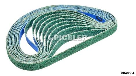 Ersatzbänder VPE 10 Stk. Korn 40 Bandbreite 10mm Länge 330mm Farbe: blau/grün