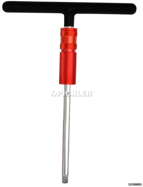 T-Griff 1/2 mit höhenverstellbarer Freilaufhülse für rasches Drehen