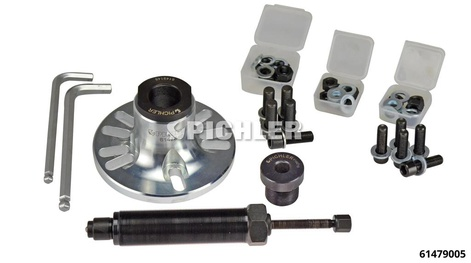 Universal Wheel Hub Remover With hydraulic spindle, adapters, mounting screws  nuts