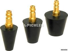 Gummikonus Satz 3-teilig GKS 01 für z.B. Kühlerbefüllgerät drm. 16-52mm Eurokupplung