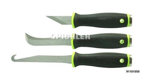 Zugmesser-Satz PRO-XNIFE-KIT universal einsetzbarer, massiver Messersatz