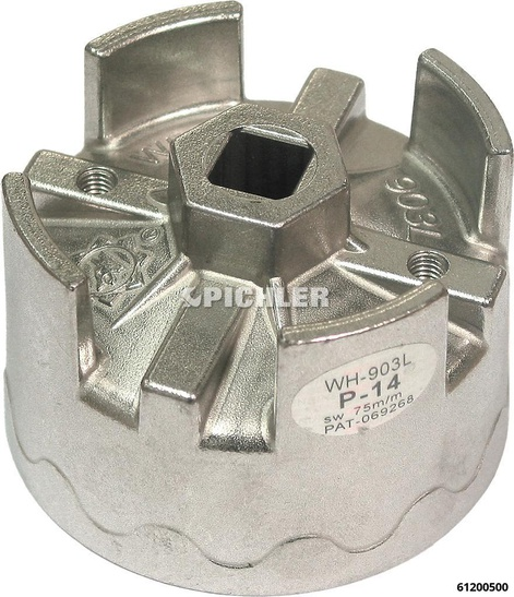 Ölfilterglocke 74,4 mm 14-kant  OPEL, VW-LT, Golf IV SDI, MB C,E-Klasse