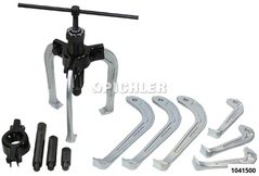 Hydraulic pull system 15 pcs 2 -and 3-legged pullers