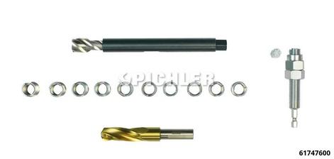 Werkzeugsatz zur Gewinderep. M14x1,5 Stoßdämpferverschraubung Querlenker
