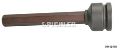 Embout Allen extra long Choc 17mm x 140mm - 3/4""