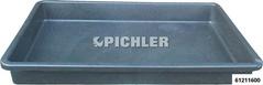 Auffangwanne extra flach Volumen 45 Liter, 880x600x100 mm  aus Polyethylen säurebeständig