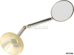 Miroir de rechange, complet avec pied ventouse