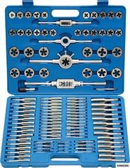 Handgewindeschneid-Kassette M2-M18 HSS 110-tlg. gemischt Standard- u. Feingewinde