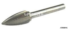HM-Frässtift 12 x 70 mm SPG-Form Zahnung 3 - Schaft 6 mm