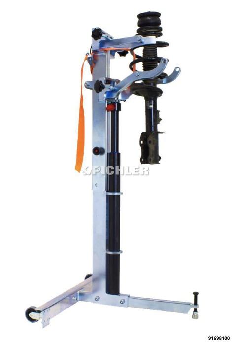 Federspanner hydraulisch m. 10 Aufnahmen 4x Ø70-160mm / 4x Ø150-240mm 2 x Ø150-240 m. Stellschraube