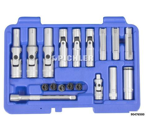 Glühkerzen-Stecknuss Set 18-tlg. mit spezieller Stecknuss für PSG - Glühkerzen