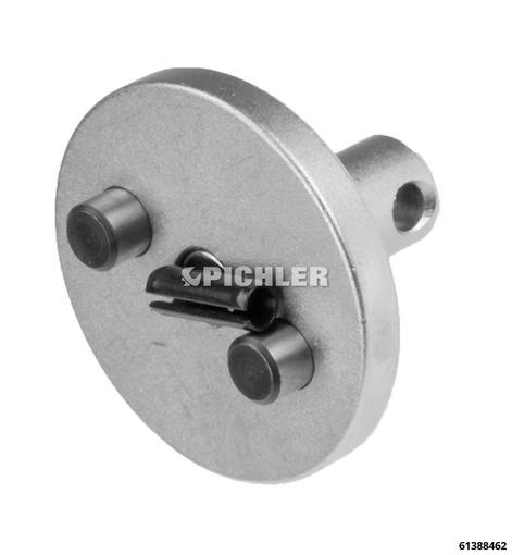 Aufsatz mit 2 Zapfen für Grundgerät Druckluft-Bremskolbendrehwerkzeug