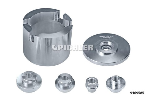 VAG Bolted Wheel Bearing Toolkit MK II without Spindle with 4 Extraction Discs