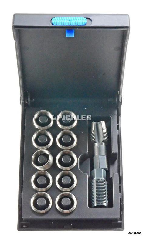 Lambda Gewindebuchsensatz Nr.2 M18x1,5 mit Bohrer + Eindreher und 10 Buchsen