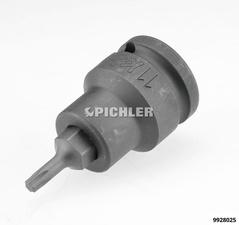 Impact-Torxstecknuss TX 25 Antrieb 1/2 Bit wechselbar