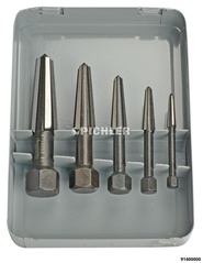 Easy Out Screw Extractor Set 5 pcs M5 - M20 - dual-edged for right-and left