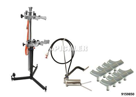 Federspanner hydraulisch mit 8 Tellern und 700 bar Fußpumpe