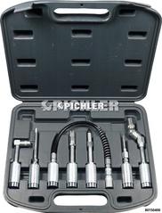 Adapter und Zubehörsatz für Fettpressen Set 7-teilig im Koffer