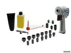 Kit clé à choc XS-MULTI avec douilles impact 14-pièces et kit entretien air comprimé