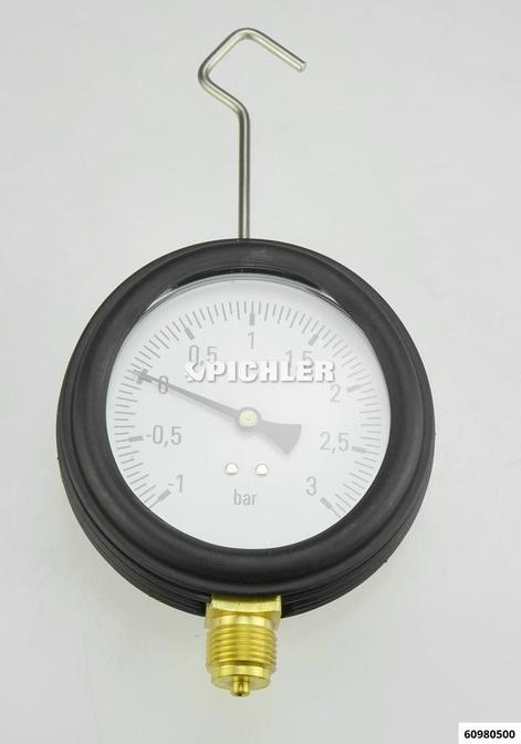 Manometer mit Kappe und Haken für 6098100 -1 bis +3 bar