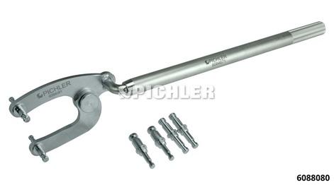 Gegenhalteschlüssel Mod. U3 Kpl. mit Rohr, Halter und 3 Paar Zapfen