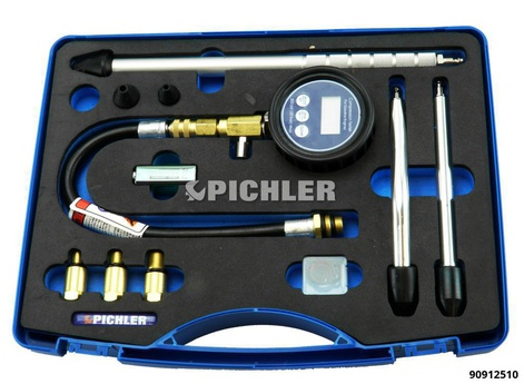 Testeur de pression de compression Modèle digitale 0-300 PSI/20 BAR/KPA