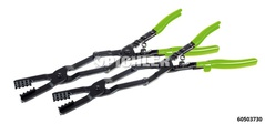 Double joint hose clamps pliers set 2 pcs. 440mm with ratchet locking system & foam inlay