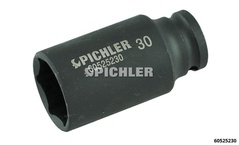 Special socket SW30, long, thin-walled hexagonal impact for sensor sockets