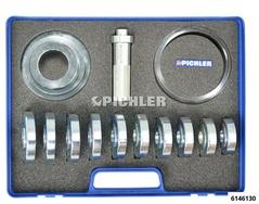Pressure piece set 15 pcs 60-85 mm 15-tlg. im Koffer