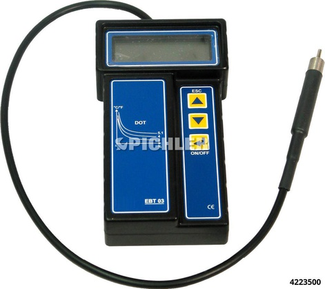 Brake fluid tester model EBT 03 point (° C) and water content (%)