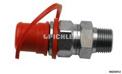 Hydraulik-Bajonettstecker CEJN mit 3/8 NPT Außengew.zur Verbindung von z.B ENERPAC Zylindern m. WALLMEK Pumpen