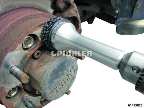 8-kant-Alu-Radnabenschleifer Typ 2 Entrosten der PKW-Radnaben hinter den Stehbolzen