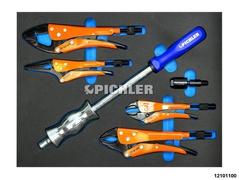Spezial-Gripzangen-Set mit Schlaghammer,  Adapter und Kugelgelenk