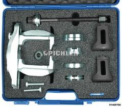 Jeu d'outils de dé/montage roulements de de roue compacts avec vis